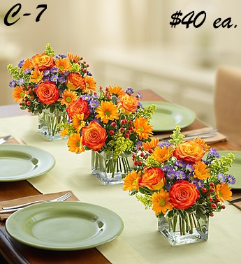 ...                                 . Fall Centerpieces.